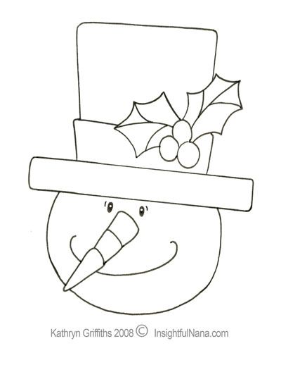 childrens coloring pages snowman hat - photo#38