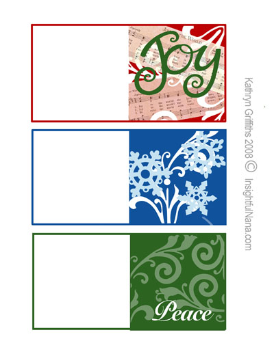 three christmas mini cards can